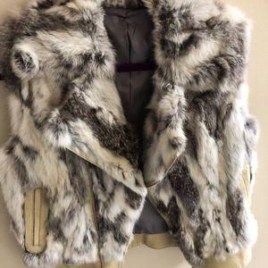 Real fur rabbit vest